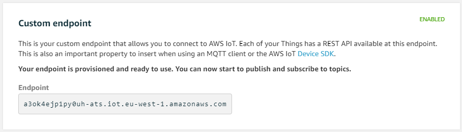 How do I connect to AWS IoT Core